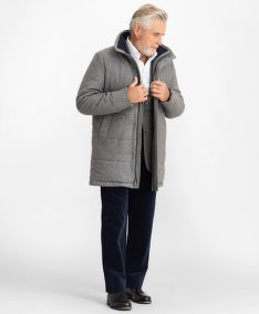 KABÁT BROOKS BROTHERS FLANNEL PUFFER COAT