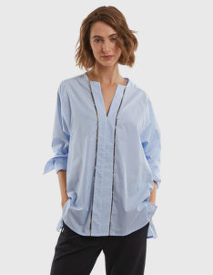 KOŠILE LA MARTINA WOMAN PRINTED POPLIN SHIRT