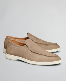 POLOBOTKY BROOKS BROTHERS SHOE NUBUCK SNEAKER 706 TAUPE