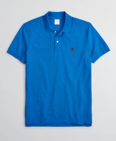 POLOKOŠILE BROOKS BROTHERS KNT SS SUPIMA PERF POLO SLIM BLUE