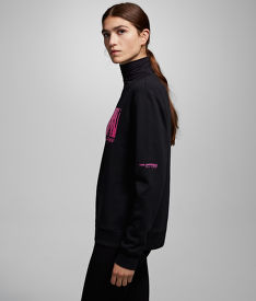 MIKINA KARL LAGERFELD KARL X CARINE FLOCKED SWEAT