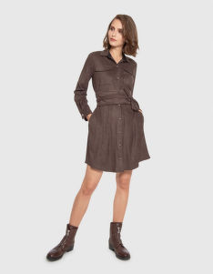 ŠATY LA MARTINA WOMAN DRESS L/S ECO SUEDE