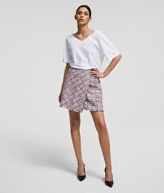 SUKNĚ KARL LAGERFELD SUMMER BOUCLE SKIRT