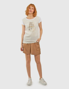 TRIČKO LA MARTINA WOMAN VISCOSE VOILE T-SHIRT